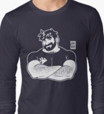 ADAM LIKES CROSSING ARMS - LINEART Long Sleeve T-Shirt