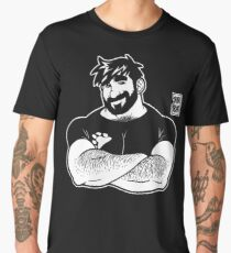 ADAM LIKES CROSSING ARMS - LINEART Men's Premium T-Shirt