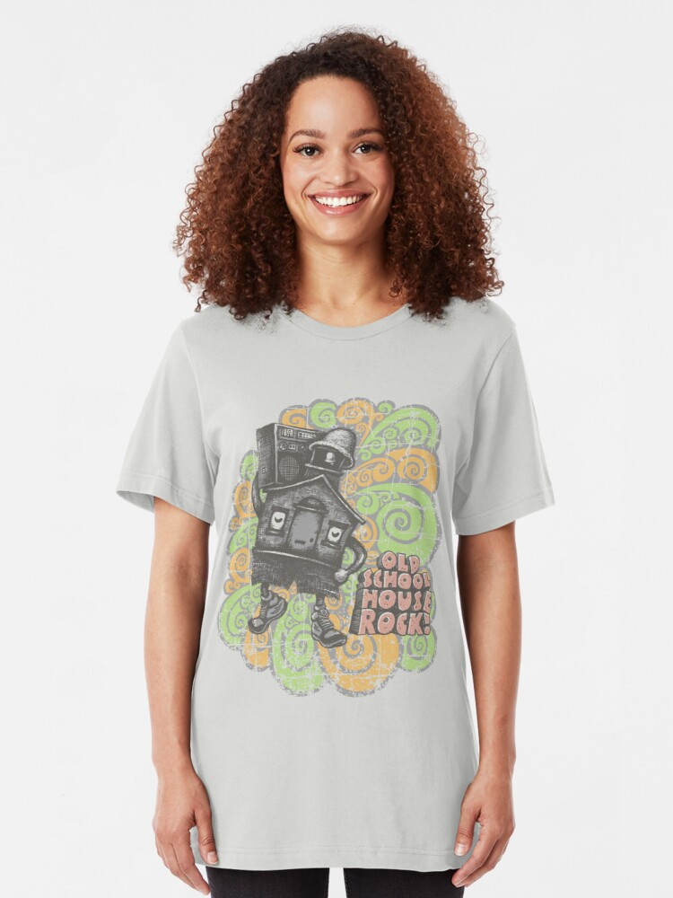 Alternate view of Old School House Rock Slim Fit T-Shirt