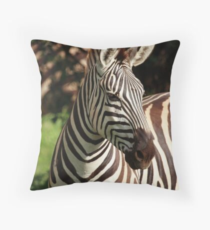 Looking Away Throw Pillow