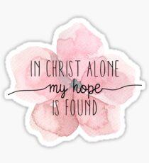 Pegatina Cita cristiana Flor de acuarela