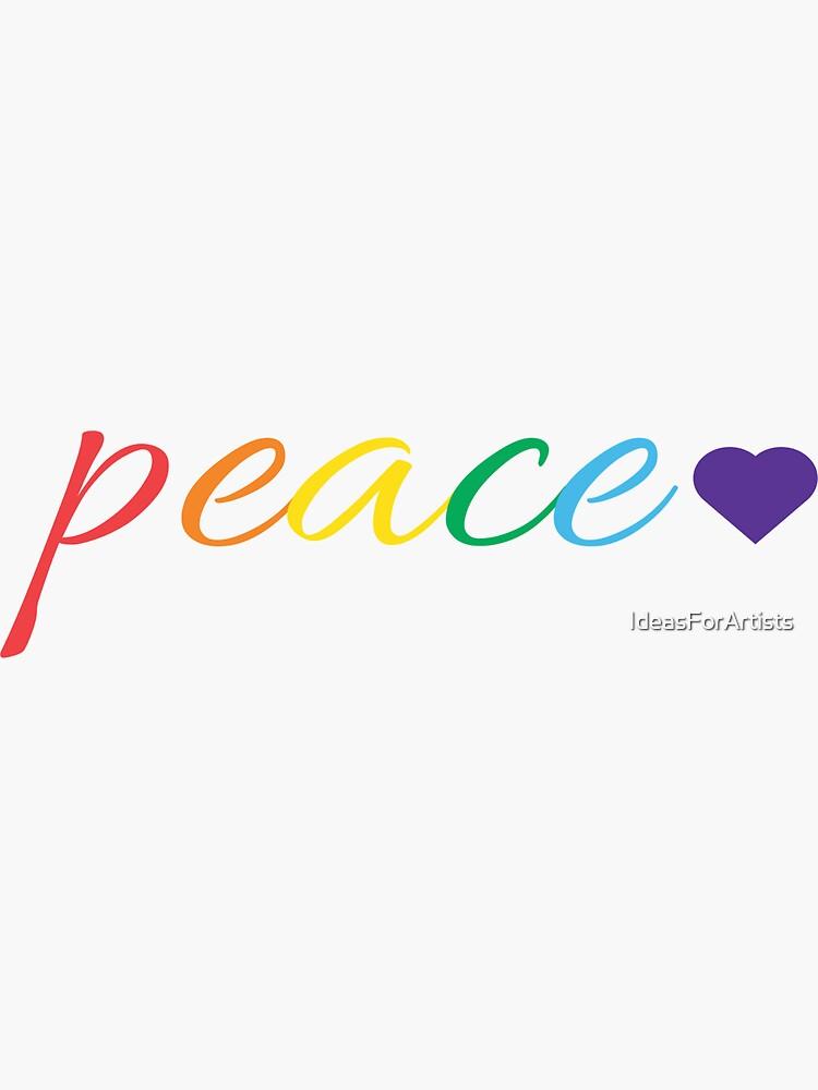 Rainbow Peace by IdeasForArtists