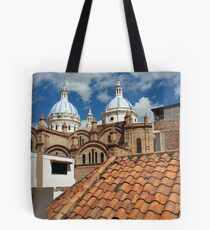 Rooftops and Church tops of Cuenca Tote Bag