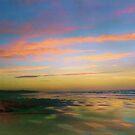 Sunset at the Beach by Pam Amos