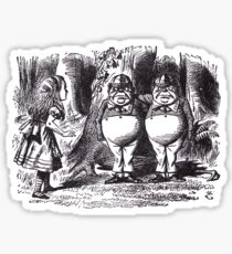 Tweedledee and Tweedledum Sticker