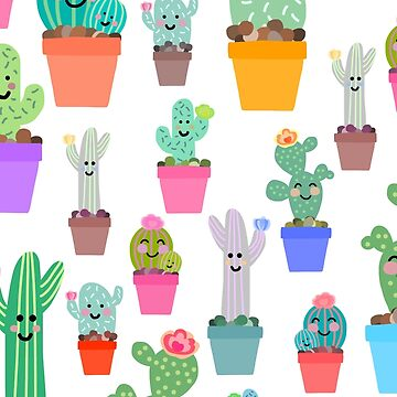 Sunny Happy Cactus Family by notsniwart