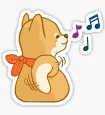 Shiba Mocca Enjoying The Music Sticker