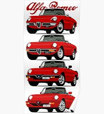 Alfa Romeo Spider evolution Poster