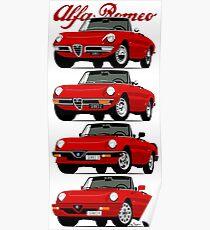 Póster Evolución Alfa Romeo Spider