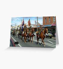 Australian Light Horse Regiment renenactment Greeting Card