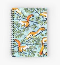 Oak Tree with Squirrels in Summer Spiral Notebook