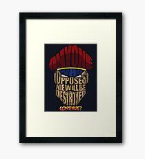 M. Bison Wins Framed Print