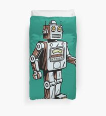Retro Toy Robot Duvet Cover
