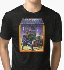 He-Man Masters of the Universe Battle Scene with Skeletor Tri-blend T-Shirt