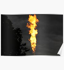 Hot Air Balloon Flame Poster