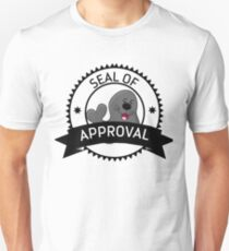 Seal Of Approval funny cute animal stamp badge gray black seal shirt gift for friend gift for mother gift for sister gift for girlfriend Unisex T-Shirt