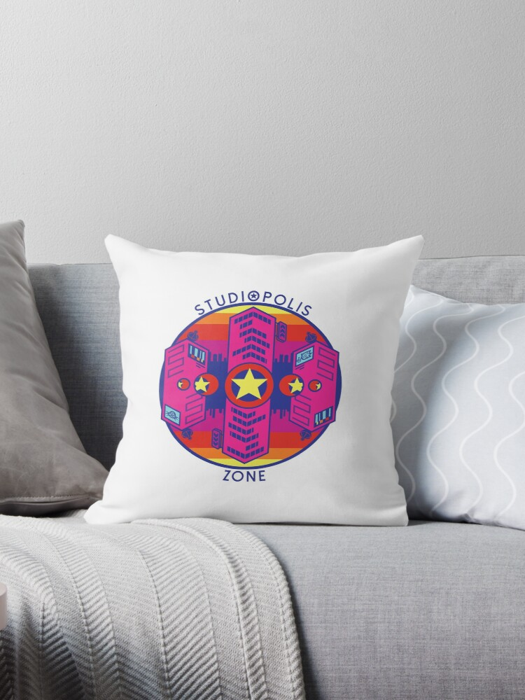 'Sonic Mania Studiopolis Zone Logo' Throw Pillow by McGuy