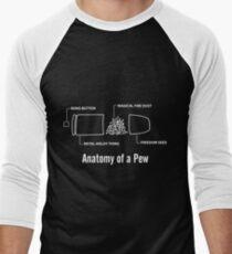 Anatomy of a Pew Men's Baseball ¾ T-Shirt