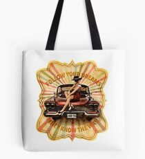 Classic cuban car Plymouth sexy girl vintage retro  Tote Bag