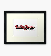 trust me i'm the doctor typograph stones style Framed Print