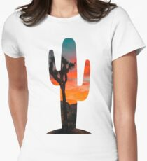 Cactus Sunrise Women's Fitted T-Shirt