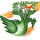 Dragon and Golden Apples by aveela