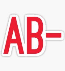 AB- Blood Type Sticker