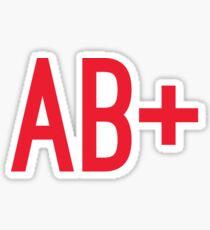 AB+ Blood Type Sticker