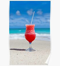 Trinken Sie am Strand Poster
