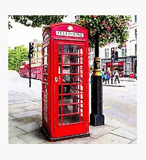Red Phone Booth, London England Photographic Print