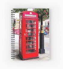 Red Phone Booth, London England Spiral Notebook