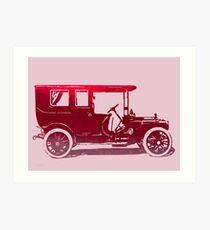 1909 Packard Limousine Red Pop Art Print