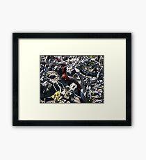 Red Brush Framed Print