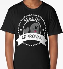 Seal Of Approval funny cute animal stamp badge gray black seal shirt gift for friend gift for mother gift for sister gift for girlfriend Long T-Shirt