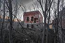 Creepy Building Jerome Arizona by photosbyflood