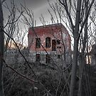 Creepy Building Jerome Arizona by photosbyflood