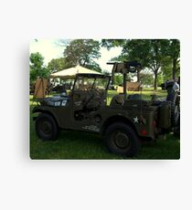 Military Jeep With Swivel Pod Mounted 30 cal. Machine Gun Canvas Print