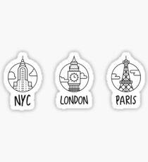 city circles Sticker