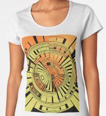 Futuristic technology abstract Women's Premium T-Shirt