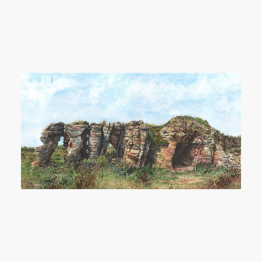 Caves of Caiplie, Fife Photographic Print