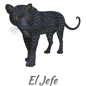 "El Jefe ""The Boss"" Jaguar T Shirt by RainyAZ"