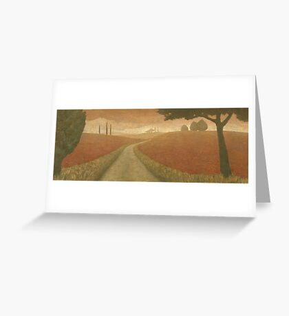 Tuscan Trail I Greeting Card