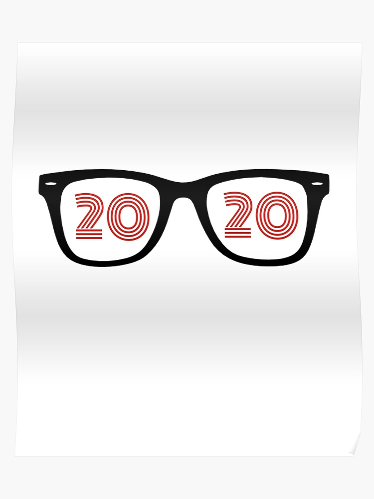 7dae8e48ac97 Eyeglasses Glasses 20/20 Optometrist Eye Doctor Hipster Optician Poster
