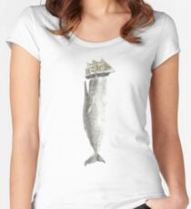 Revenge of The Whale  Fitted Scoop T-Shirt