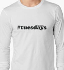 #tuesdays - black Long Sleeve T-Shirt