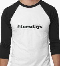 #tuesdays - black Men's Baseball ¾ T-Shirt