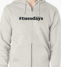 #tuesdays - black Zipped Hoodie