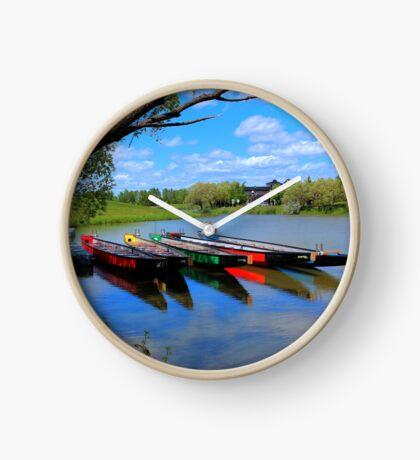 Drag Boats Clock
