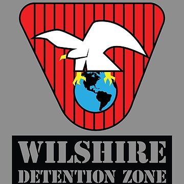 Wilshire Detention Zone Souvenir Tee (The Running Man) by blackrock3