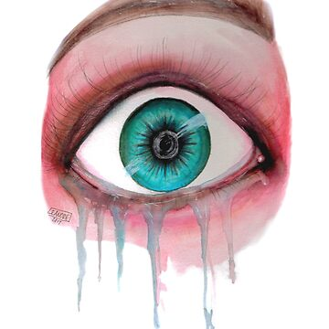Tears of Fear - Watercolor by Leanore